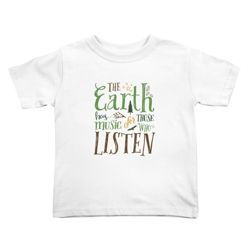 The Earth's Music Kids Toddler T-Shirt by Margie Mark's Artist Shop
