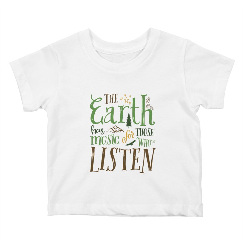 The Earth's Music Kids Baby T-Shirt by Margie Mark's Artist Shop