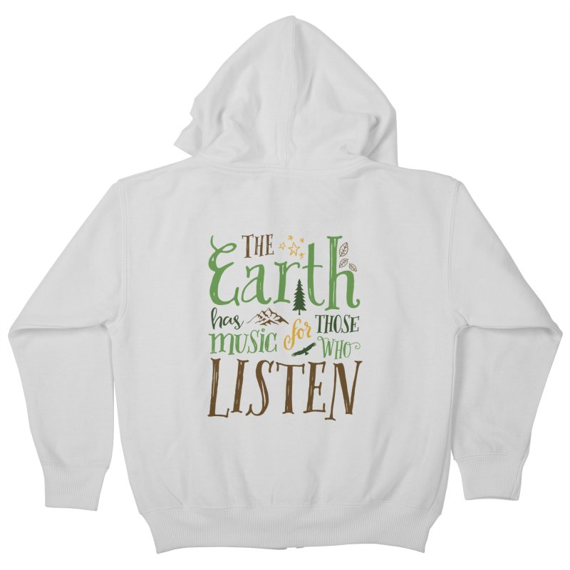 The Earth's Music Kids Zip-Up Hoody by Margie Mark's Artist Shop