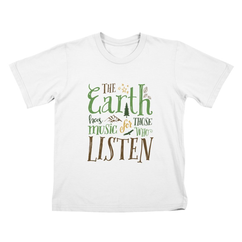 The Earth's Music Kids T-Shirt by Margie Mark's Artist Shop