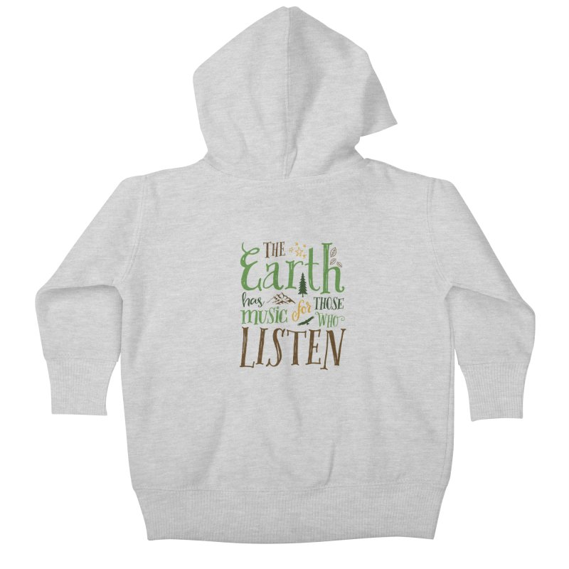 The Earth's Music Kids Baby Zip-Up Hoody by Margie Mark's Artist Shop