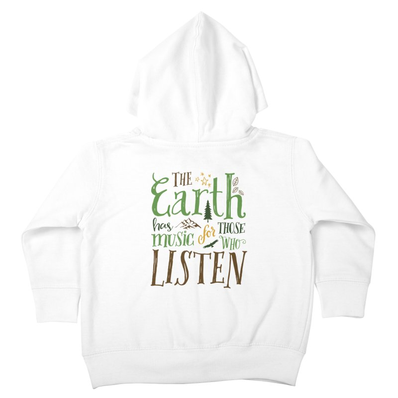 The Earth's Music Kids Toddler Zip-Up Hoody by Margie Mark's Artist Shop