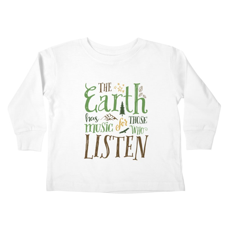 The Earth's Music Kids Toddler Longsleeve T-Shirt by Margie Mark's Artist Shop
