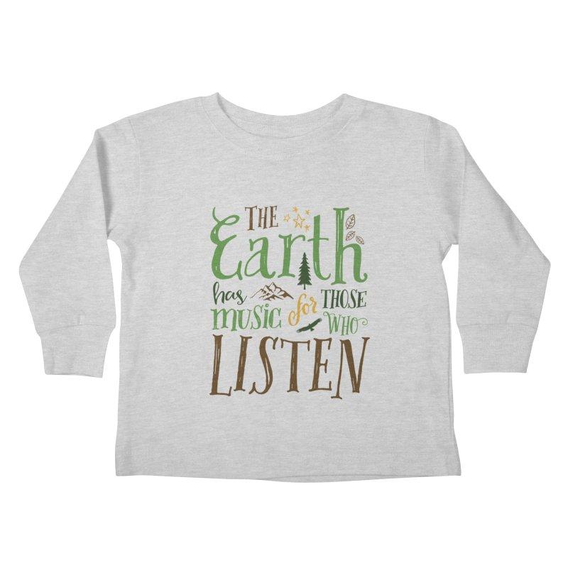 The Earth's Music Kids Toddler Longsleeve T-Shirt by Margie Mark's Artist Shop