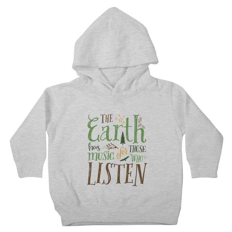 The Earth's Music Kids Toddler Pullover Hoody by Margie Mark's Artist Shop