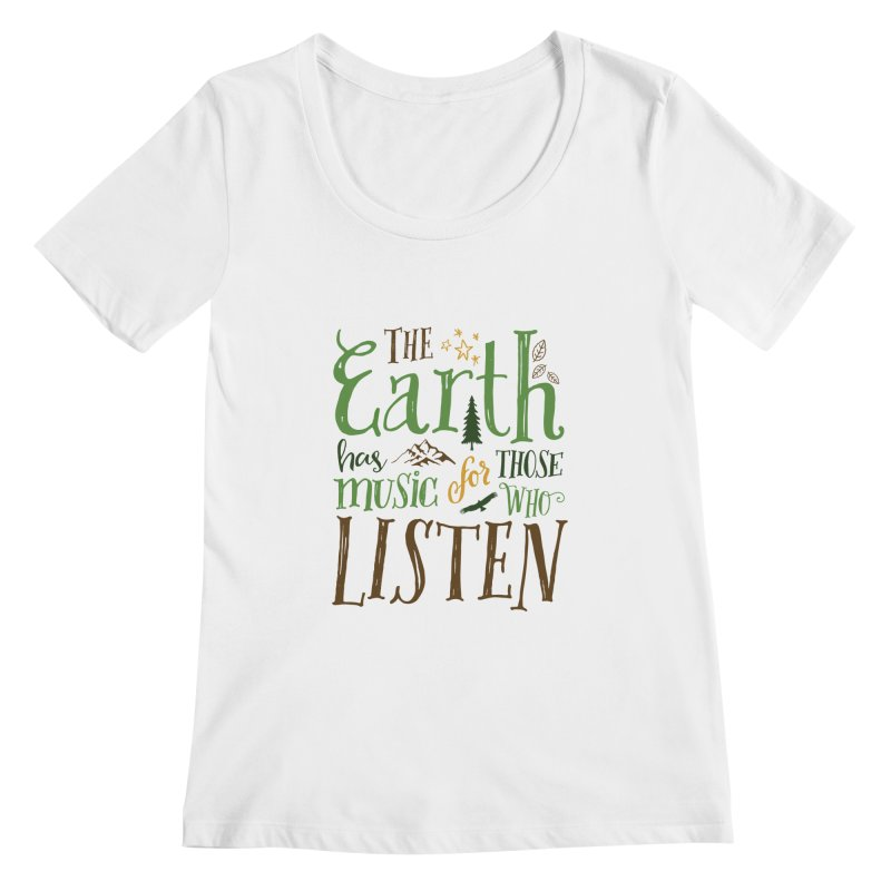 The Earth's Music Women's Scoopneck by Margie Mark's Artist Shop