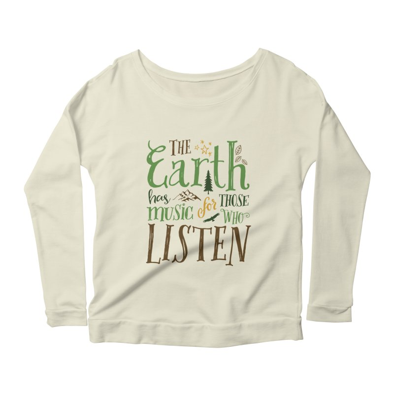 The Earth's Music Women's Longsleeve Scoopneck  by Margie Mark's Artist Shop