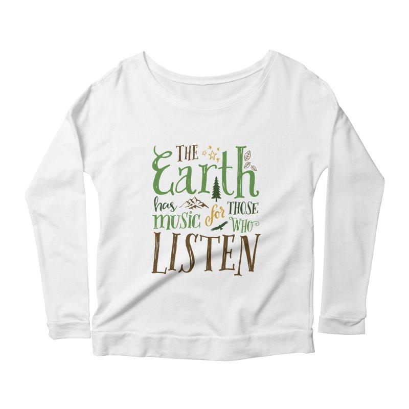 The Earth's Music Women's Longsleeve Scoopneck  by Margie Mark's Artist Shop