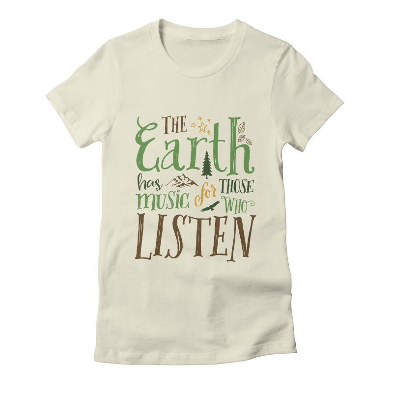 The Earth's Music Women's Fitted T-Shirt by Margie Mark's Artist Shop
