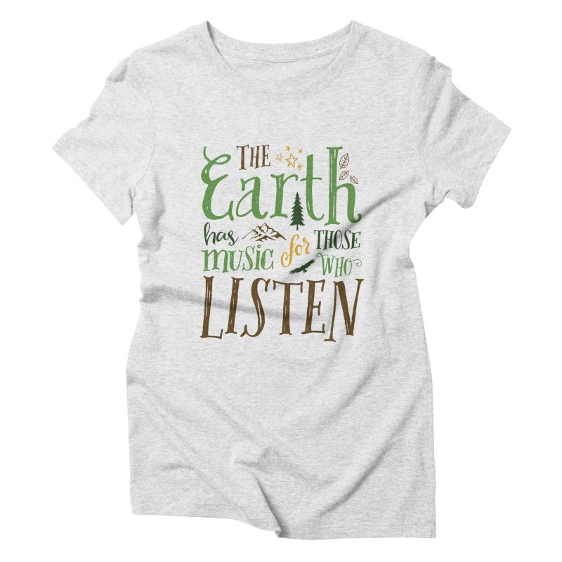 The Earth's Music Women's Triblend T-Shirt by Margie Mark's Artist Shop
