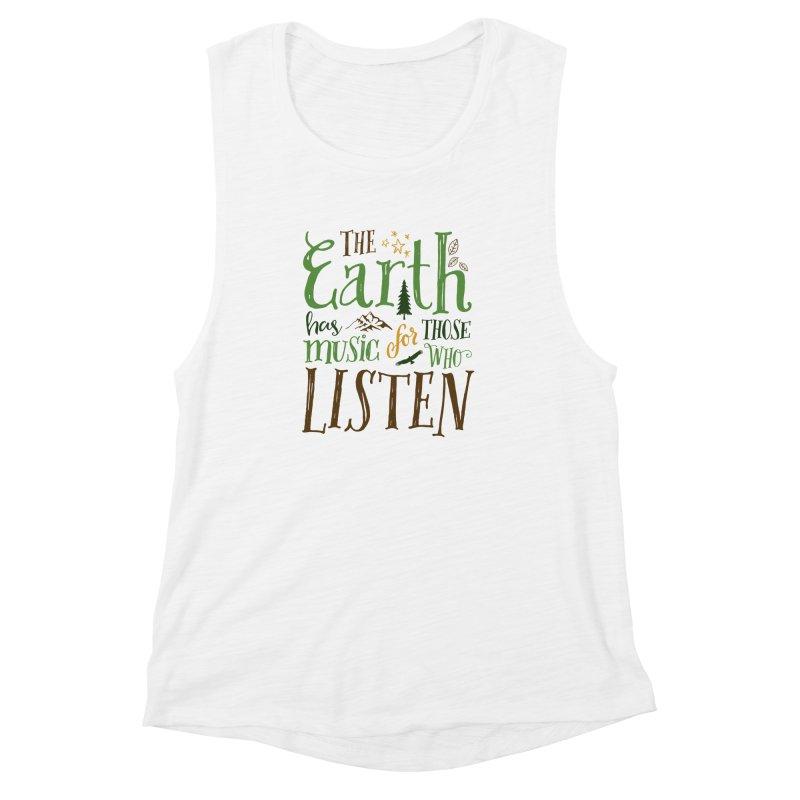 The Earth's Music Women's Muscle Tank by Margie Mark's Artist Shop