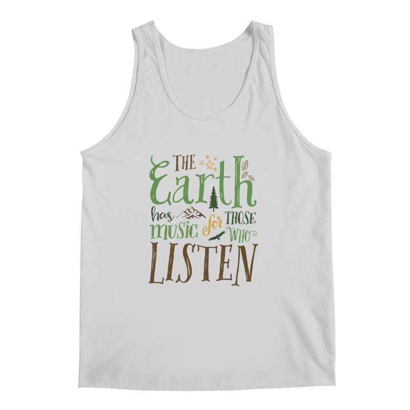 The Earth's Music Men's Tank by Margie Mark's Artist Shop