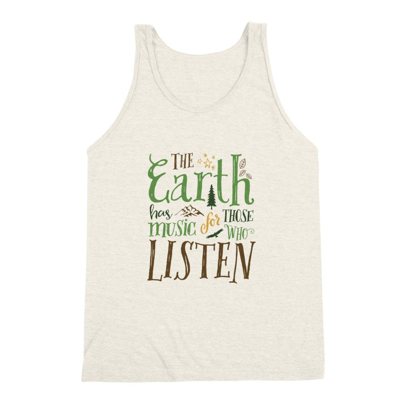 The Earth's Music Men's Triblend Tank by Margie Mark's Artist Shop