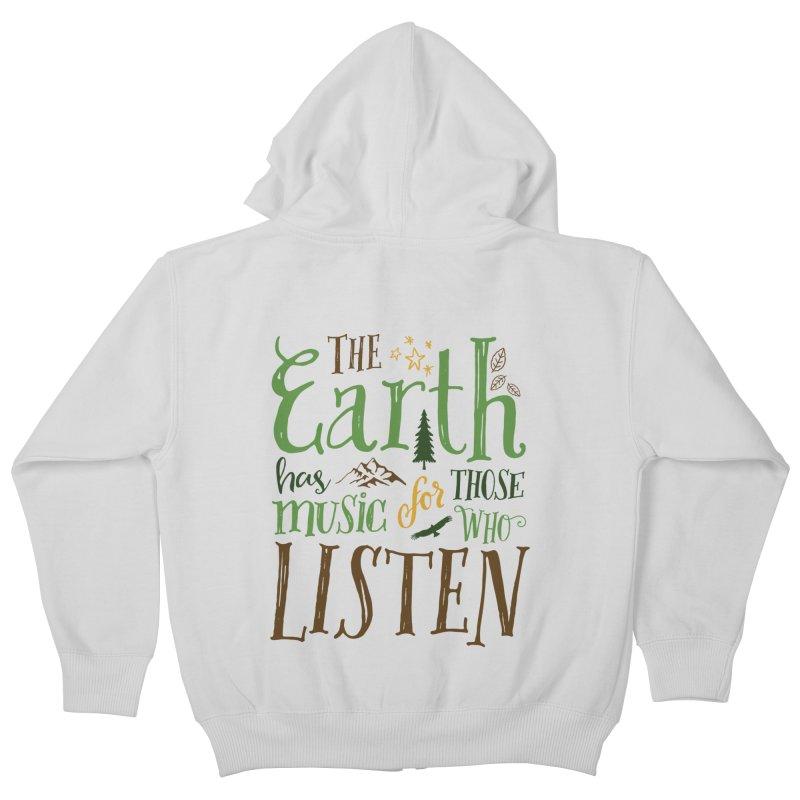 The Earth's Music Kids Zip-Up Hoody by Margie Mark's Artist Shop