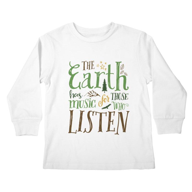 The Earth's Music Kids Longsleeve T-Shirt by Margie Mark's Artist Shop