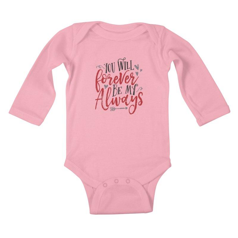 Forever My Always Kids Baby Longsleeve Bodysuit by Margie Mark's Artist Shop