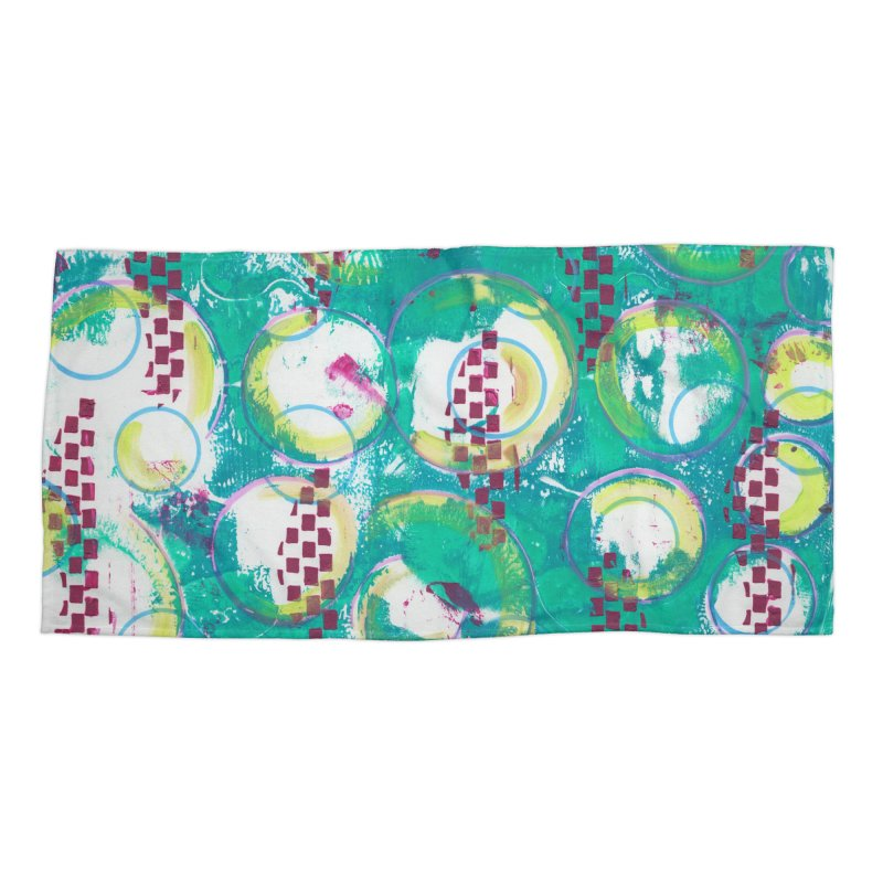 Bubble Curtain Accessories Beach Towel by Margie Mark's Artist Shop