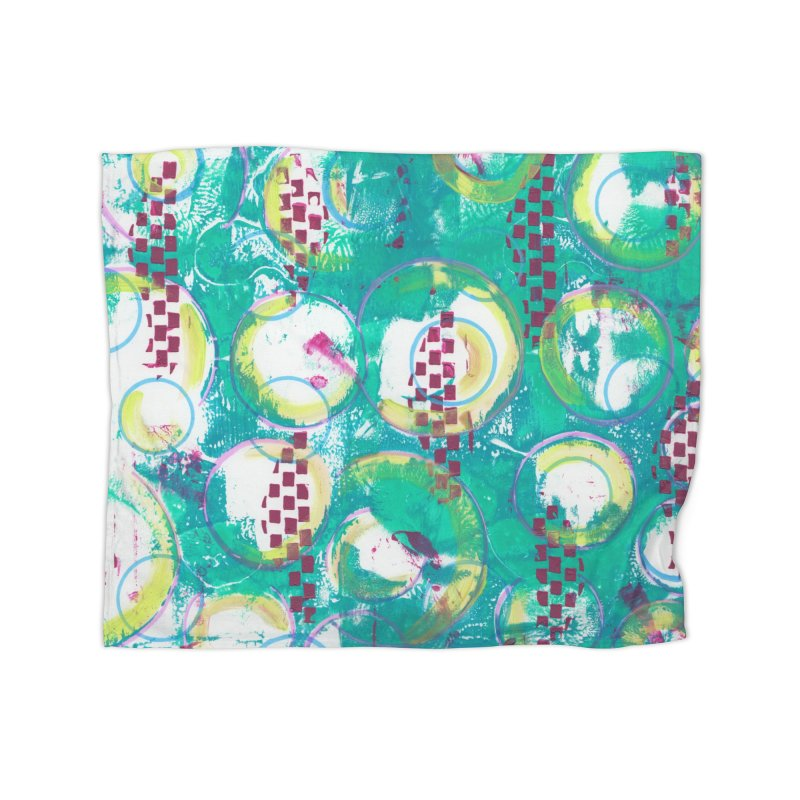 Bubble Curtain Home Blanket by Margie Mark's Artist Shop