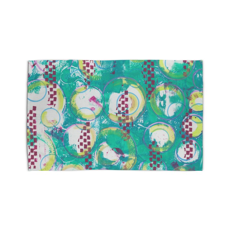 Bubble Curtain Home Rug by Margie Mark's Artist Shop