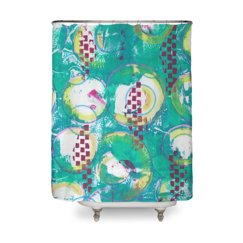 Bubble Curtain Home Shower Curtain by Margie Mark's Artist Shop