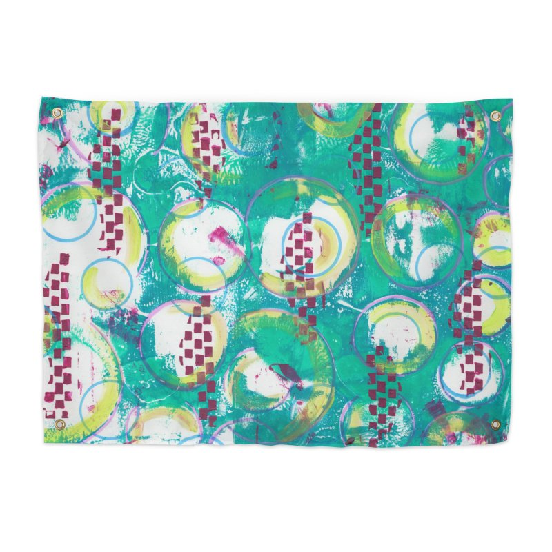 Bubble Curtain Home Tapestry by Margie Mark's Artist Shop