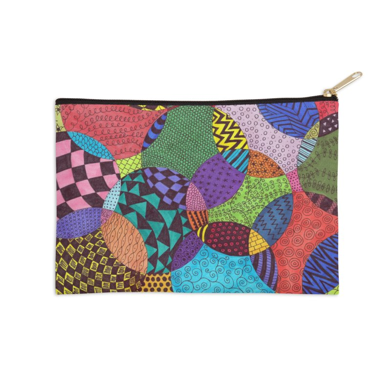 Circle of Tangles Accessories Zip Pouch by Margie Mark's Artist Shop