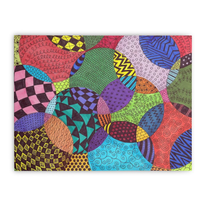 Circle of Tangles Home Stretched Canvas by Margie Mark's Artist Shop