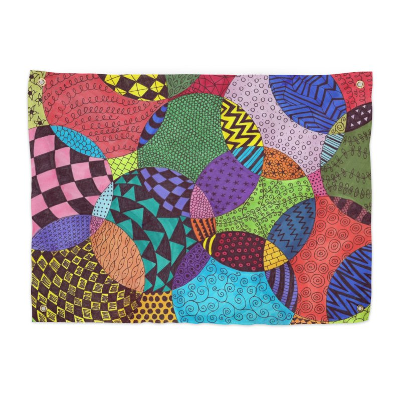 Circle of Tangles Home Tapestry by Margie Mark's Artist Shop