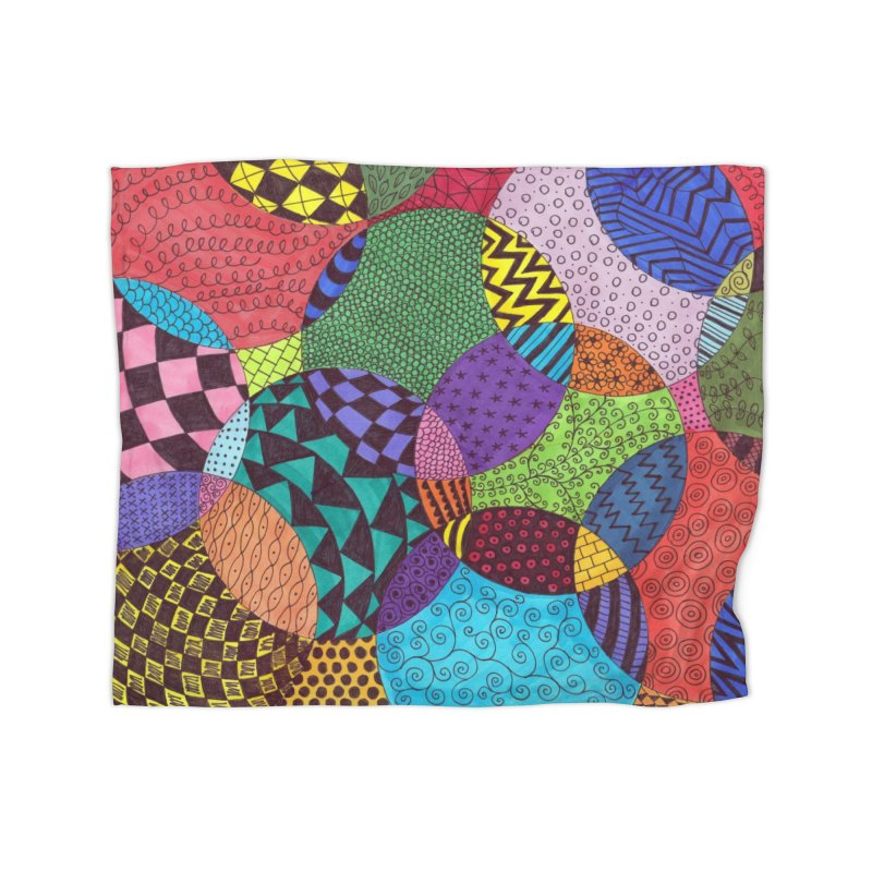 Circle of Tangles Home Blanket by Margie Mark's Artist Shop