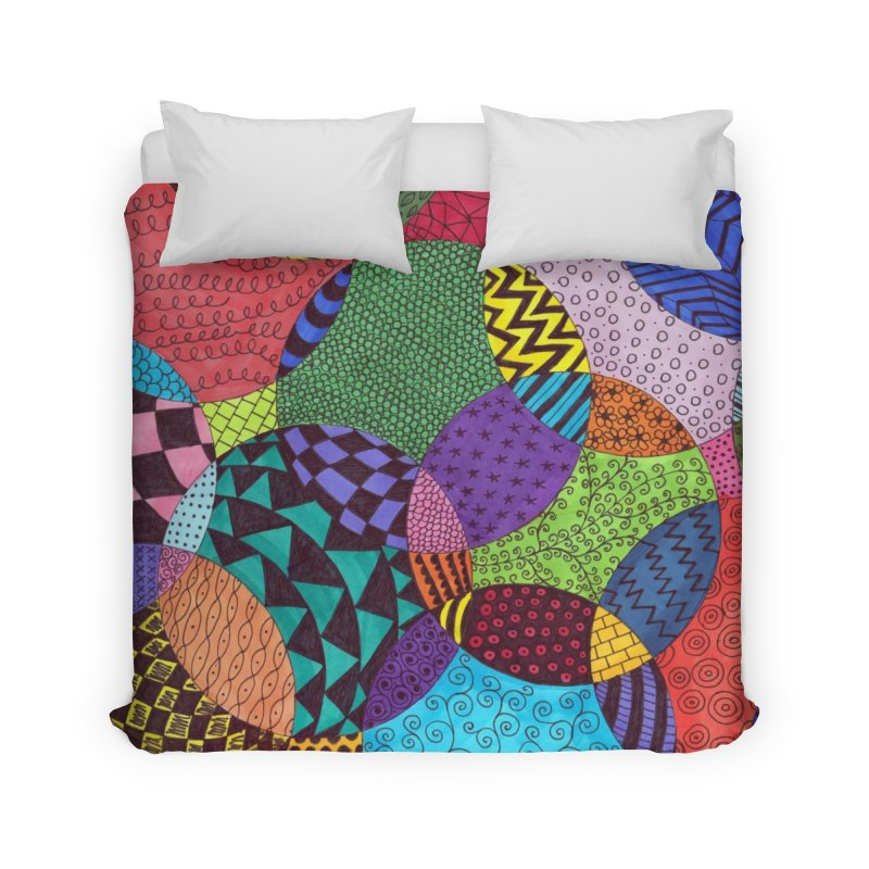 Circle of Tangles Home Duvet by Margie Mark's Artist Shop