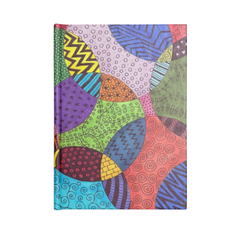 Circle of Tangles Accessories Notebook by Margie Mark's Artist Shop