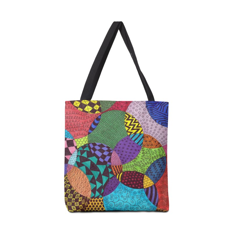 Circle of Tangles Accessories Bag by Margie Mark's Artist Shop