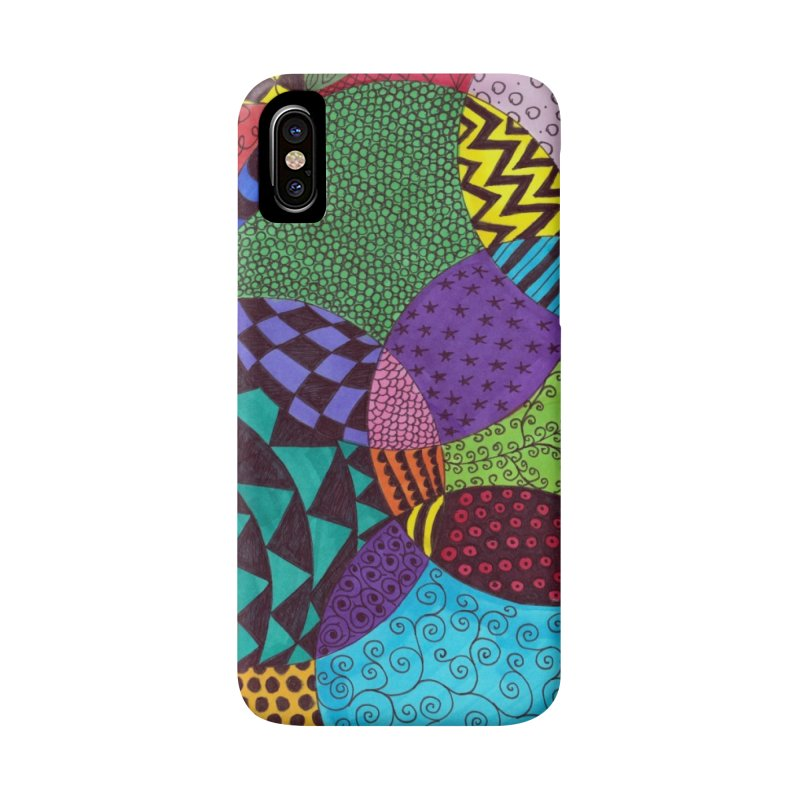 Circle of Tangles Accessories Phone Case by Margie Mark's Artist Shop