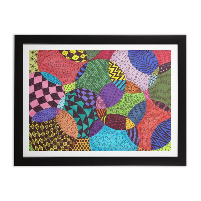 Circle of Tangles Home Framed Fine Art Print by Margie Mark's Artist Shop
