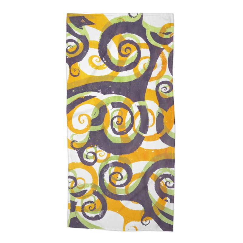 Swirls on Swirls Accessories Beach Towel by Margie Mark's Artist Shop