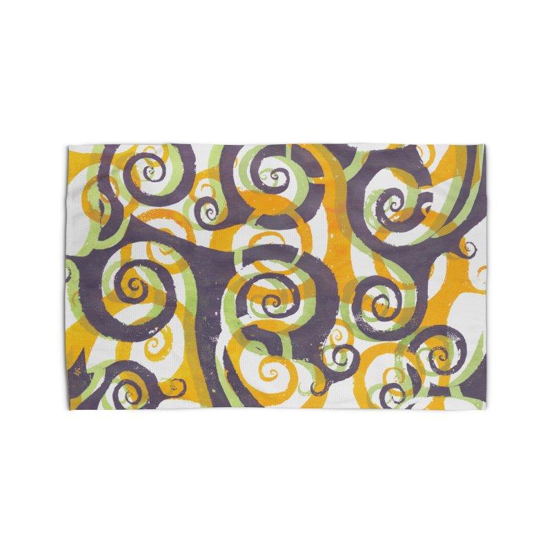 Swirls on Swirls Home Rug by Margie Mark's Artist Shop
