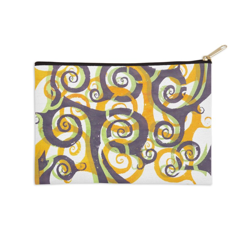 Swirls on Swirls Accessories Zip Pouch by Margie Mark's Artist Shop