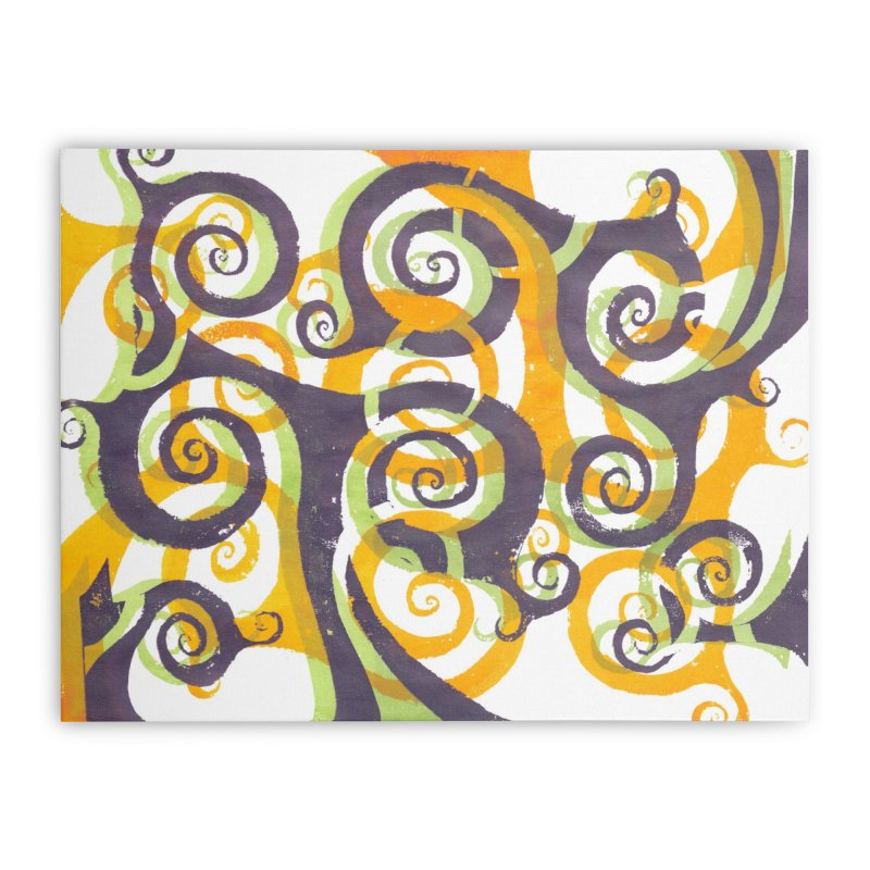Swirls on Swirls Home Stretched Canvas by Margie Mark's Artist Shop