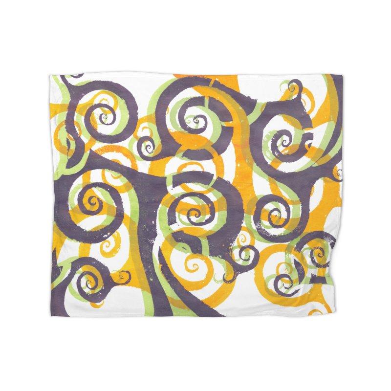 Swirls on Swirls Home Blanket by Margie Mark's Artist Shop