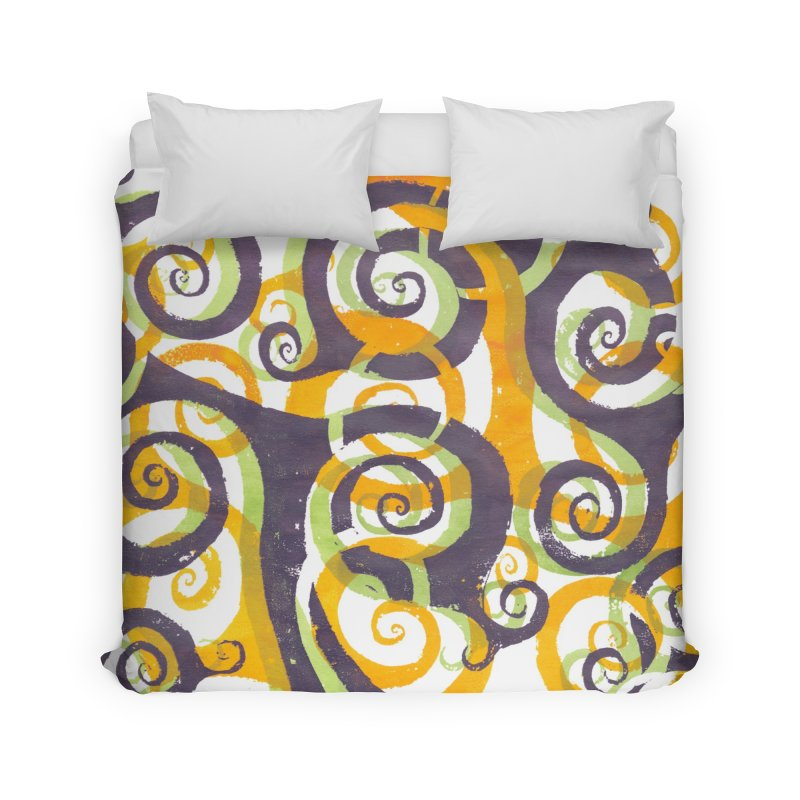Swirls on Swirls Home Duvet by Margie Mark's Artist Shop