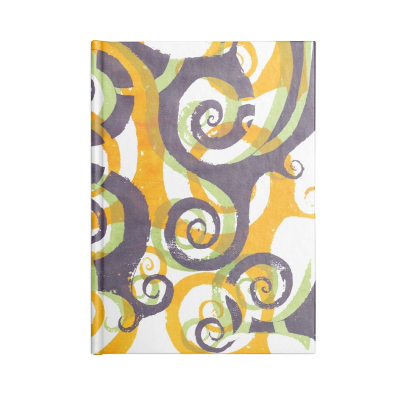 Swirls on Swirls Accessories Notebook by Margie Mark's Artist Shop