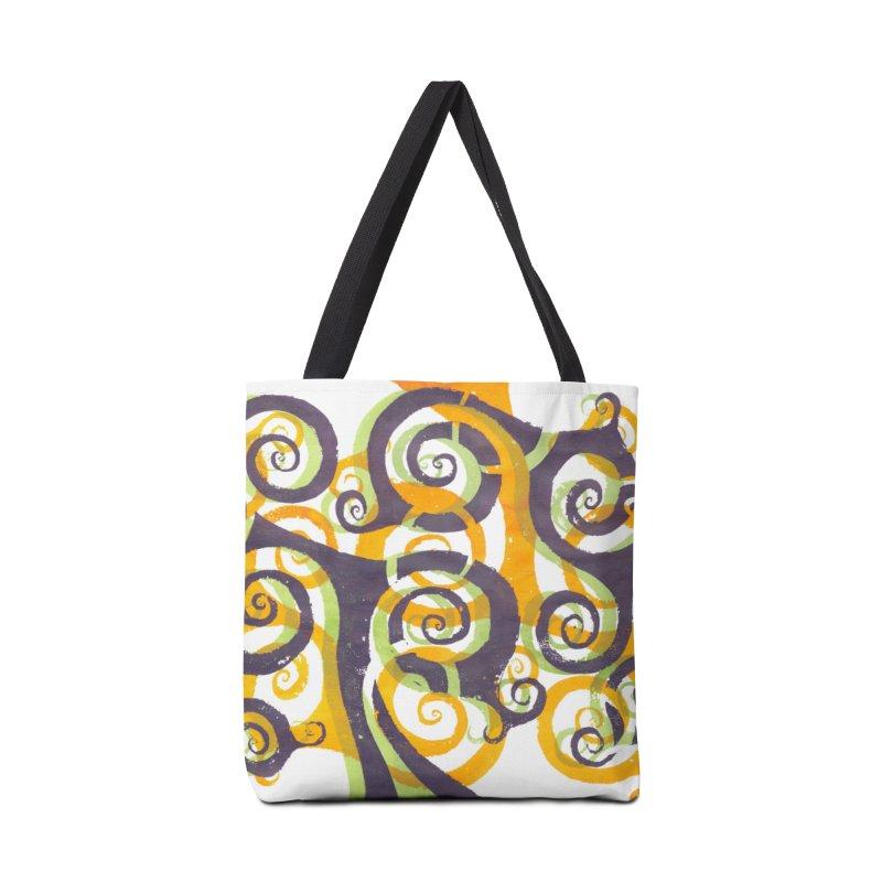 Swirls on Swirls Accessories Bag by Margie Mark's Artist Shop