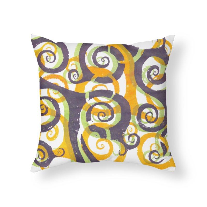 Swirls on Swirls Home Throw Pillow by Margie Mark's Artist Shop