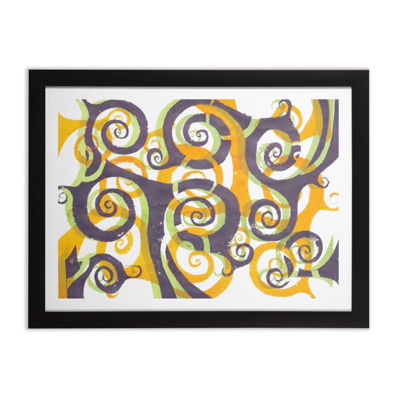 Swirls on Swirls Home Framed Fine Art Print by Margie Mark's Artist Shop