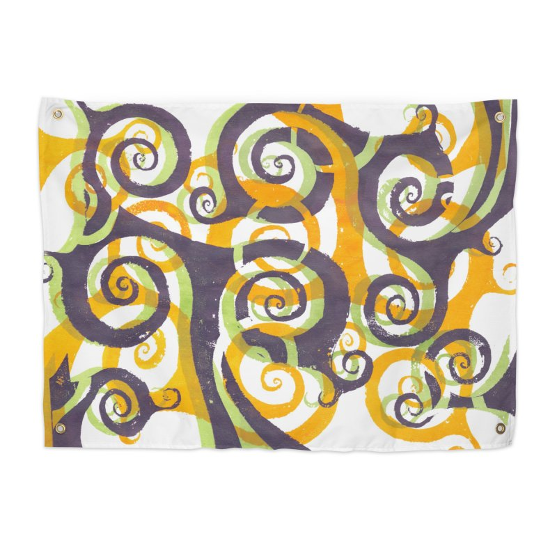 Swirls on Swirls Home Tapestry by Margie Mark's Artist Shop