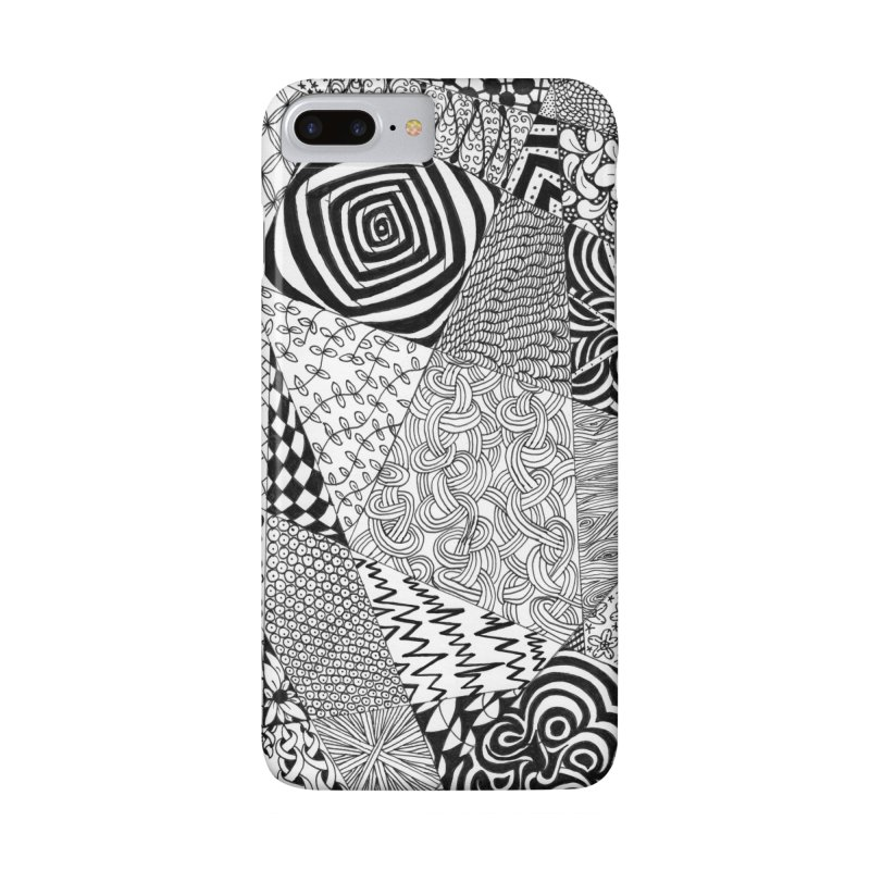 Black and White Tangle Accessories Phone Case by Margie Mark's Artist Shop