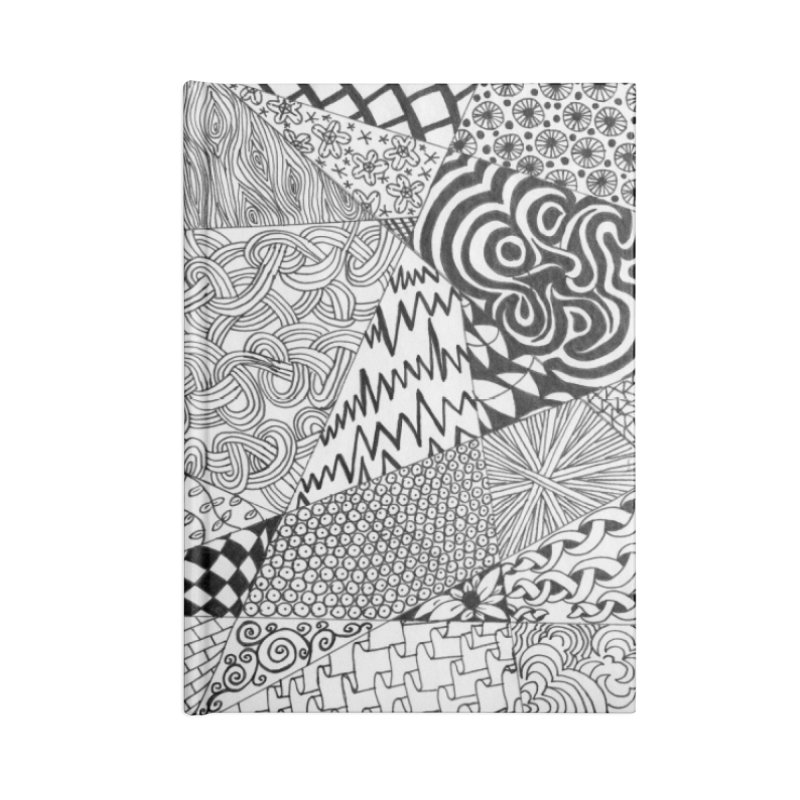 Black and White Tangle Accessories Notebook by Margie Mark's Artist Shop