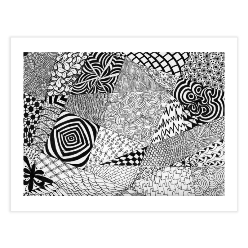 Black and White Tangle Home Fine Art Print by Margie Mark's Artist Shop