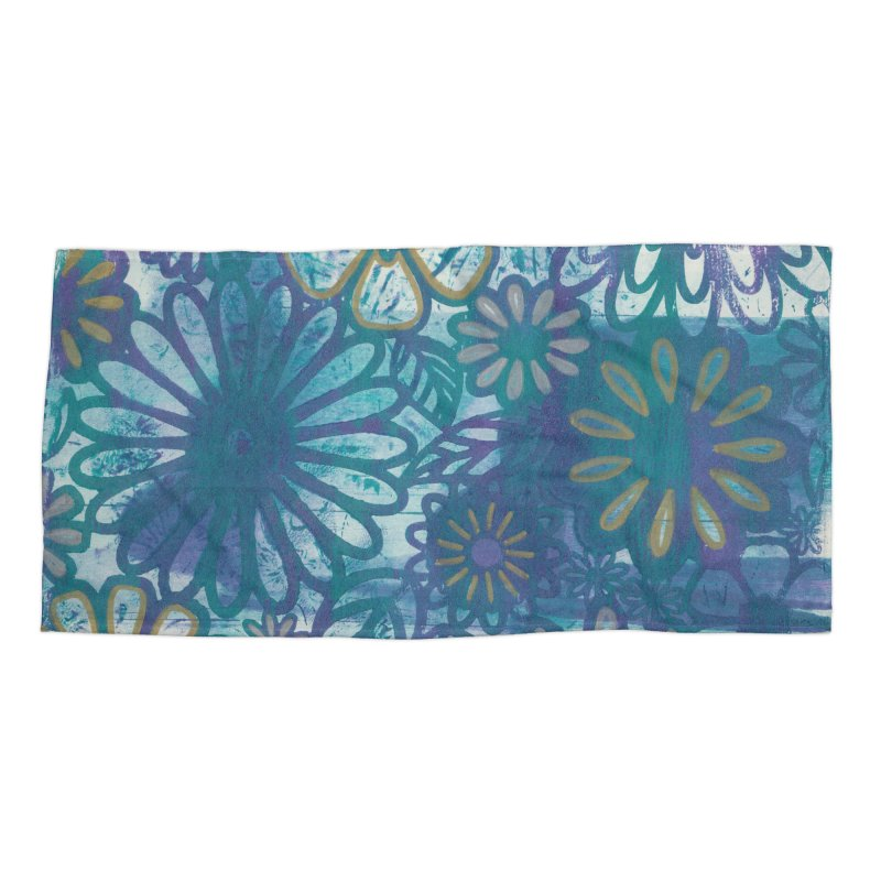 Metallic Daisies Accessories Beach Towel by Margie Mark's Artist Shop