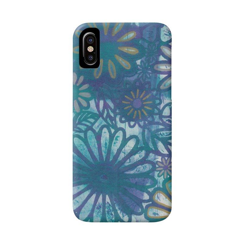 Metallic Daisies Accessories Phone Case by Margie Mark's Artist Shop